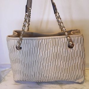 Cream Jessica Simpson Gigi Tote Purse